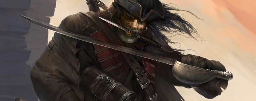 pirate made with a drawing tablet
