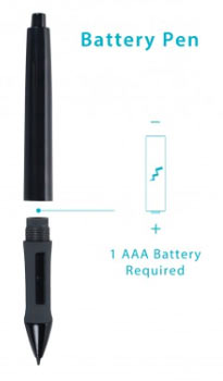 drawing tablet pen that requires battery