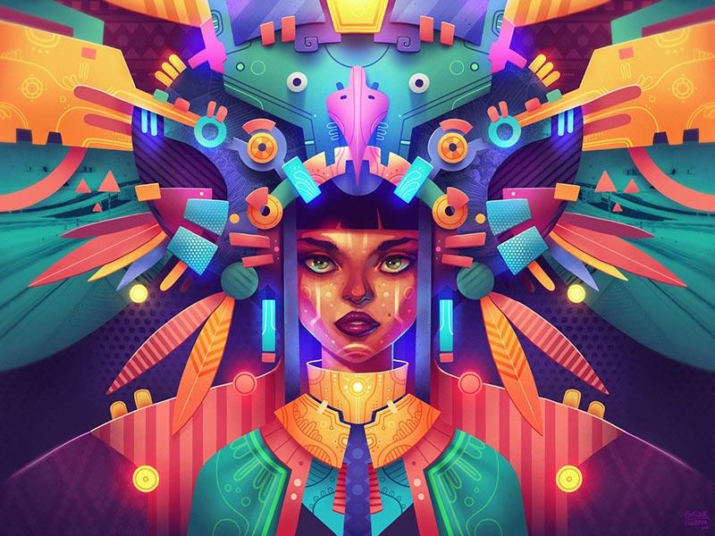 iPad Pro Procreate colorful illustration