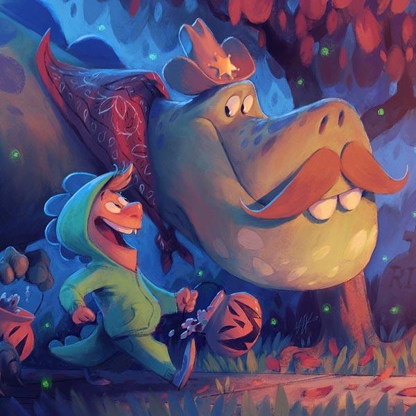 iPad Pro Procreate dragon illustration