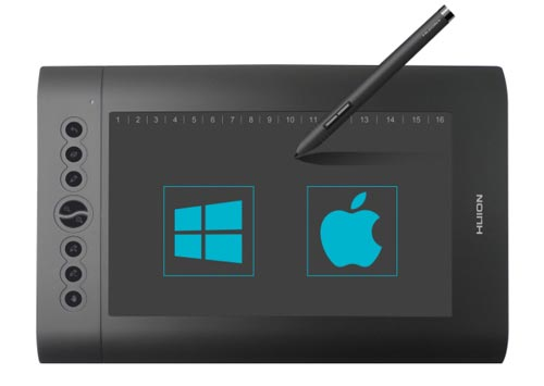 huion h610 pro graphics drawing pen tablet compatibility