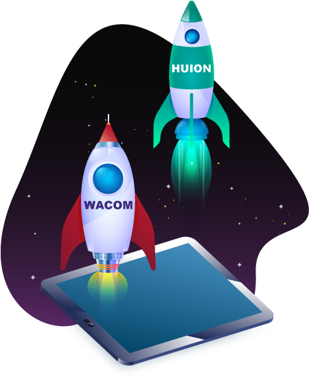 Huion best drawing tablet rocket