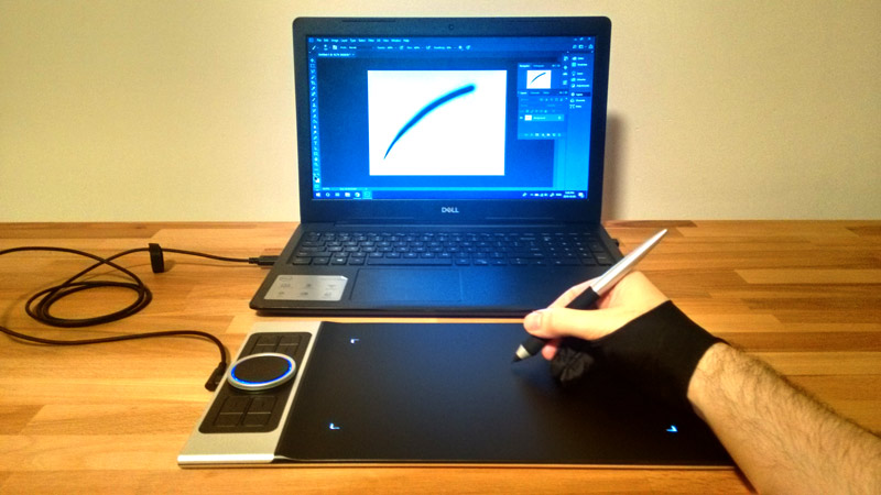 XP-PEN Drawing Tablet and Laptop
