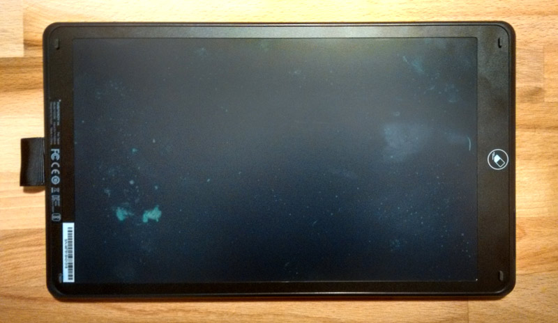 Inspiroy Ink LCD screen looks damaged, but it's not.