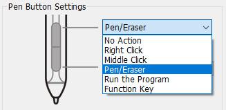 Artist 12 Pro Pen Button Settings Options