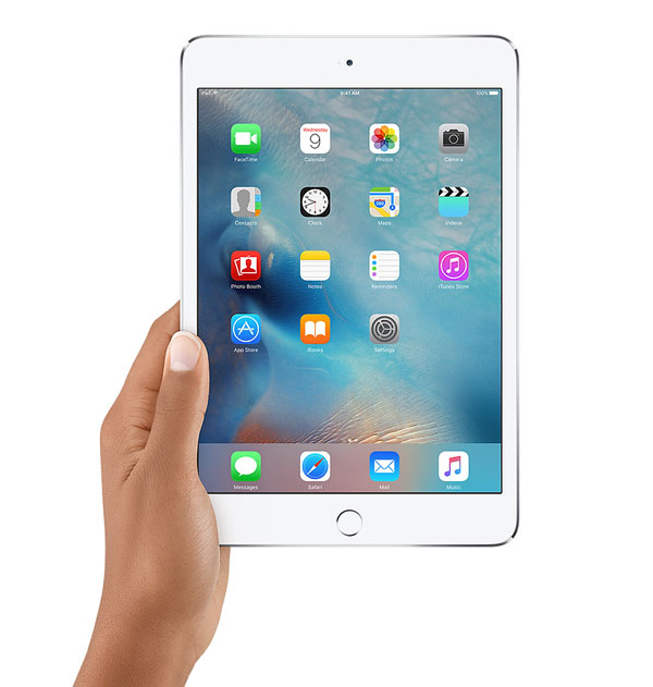 iPad 4 mini being held