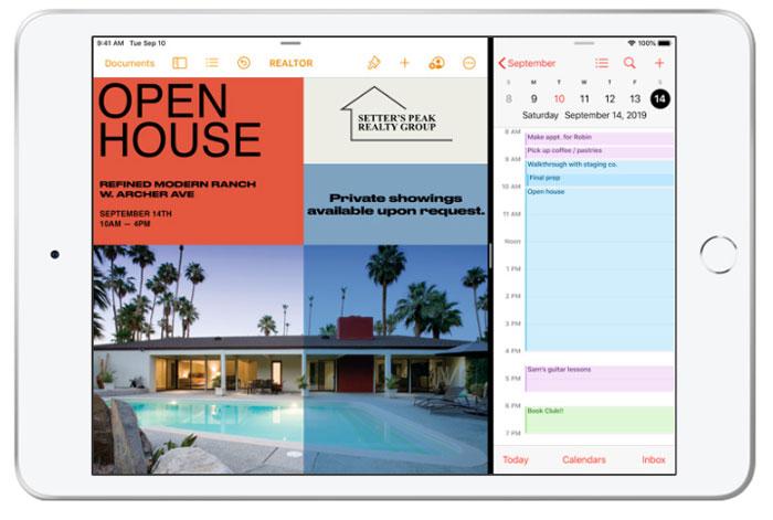 iPad mini 5 Split Screen