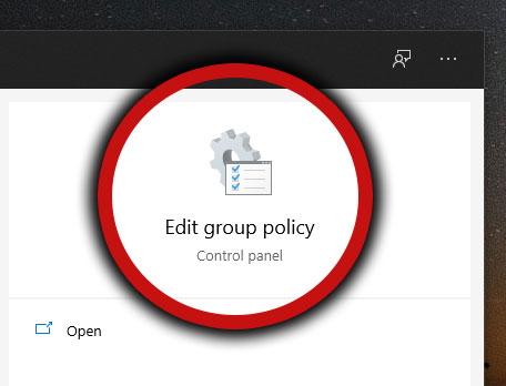 Edit Group Policy icon