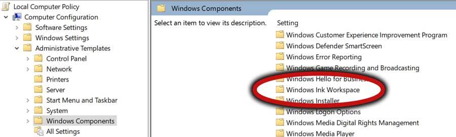 Windows Ink Workspace