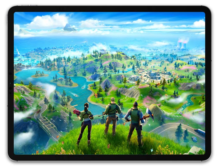 Fortnite on iPad Pro
