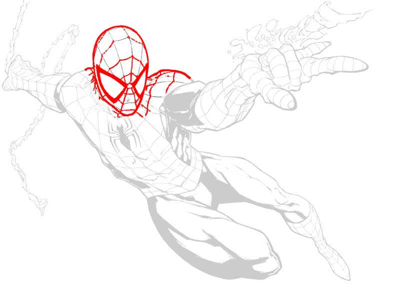 Spider-Man trace over