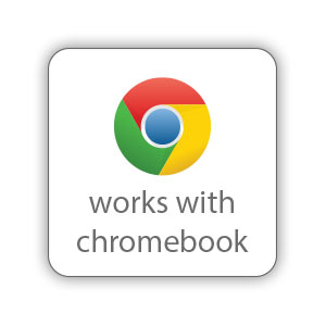 Works with Chromebook seal